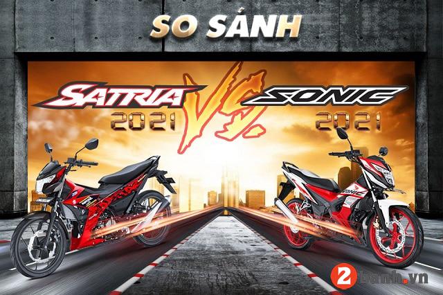 So sánh suzuki satria 2021 với honda sonic 2021 - 1